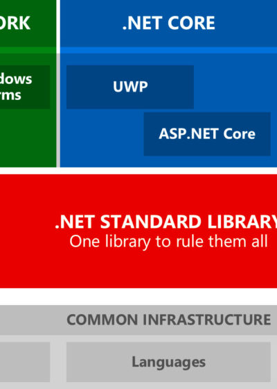 The .NET eco system with the .NET Standard Library included