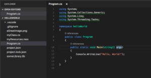 Visual Studio Code Editing A File