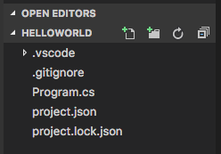 Visual Studio Code File Buttons