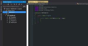 Visual Studio .NET Core Project Layout