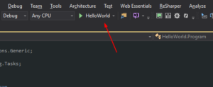 Visual Studio Run Button