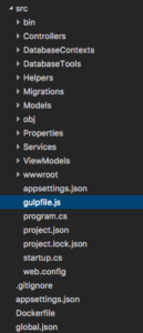 gulpfile Location