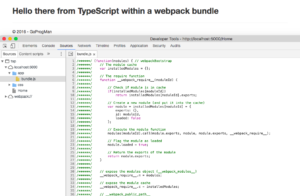 webpack Home with Bundle Showing