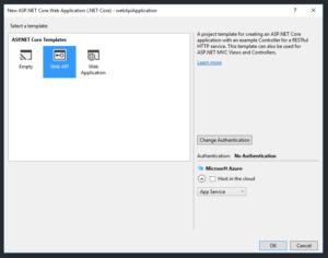 Visual Studio - New Project Wizard