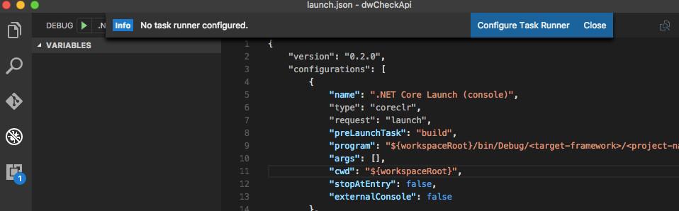 dwCheckApi - configure Task Runner Message