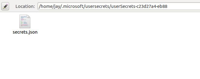 Secrets Directory Contents