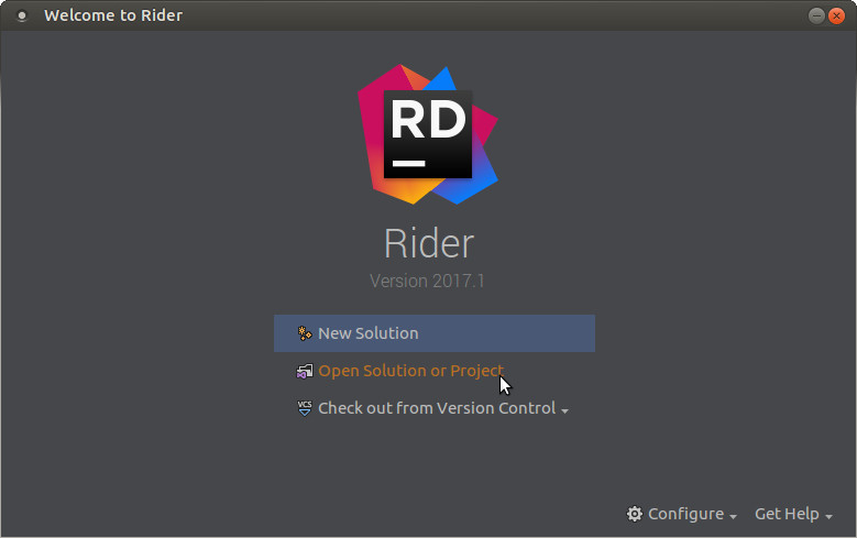 Rider Splash Screen - Open Solution