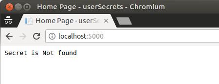 UserSecrets not found