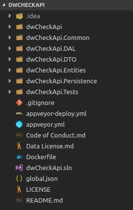 dwCheckApi version 2 directory structure